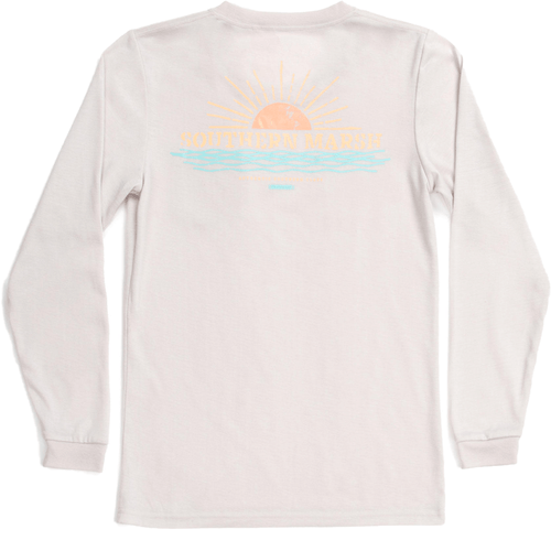 Women's Southern Marsh Long Sleeve FieldTec™ Comfort Tee-Sunset AGY-Ash Gray Back
