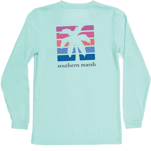 Women's Southern Marsh Long Sleeve FieldTec™ Comfort Tee-Island Fade ABL-Antigua Blue Back