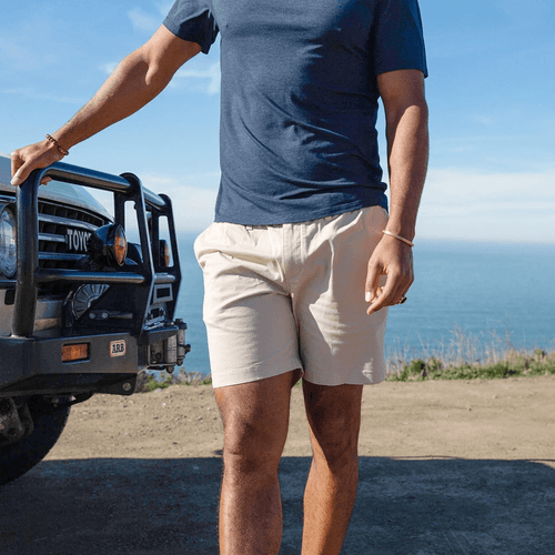 "Men's Chubbies 7"" The Khakinators Shorts Beige Khaki Lifestyle"