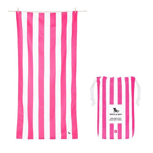 Dock & Bay Cabana Quick Dry Towel Large Phi Phi Pink