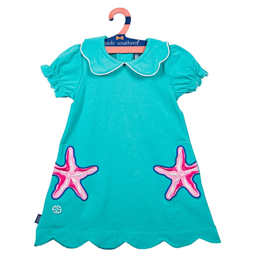 Toddler Girls Simply Southern Embroidered Dress Shell