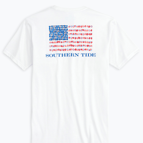 Women's Southern Tide Berry Patriotic T-Shirt Classic White
