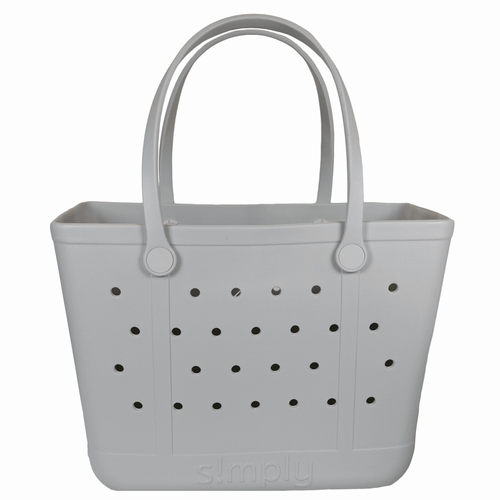 Simply Southern Large Simply Tote -Solid Ice Grey