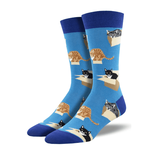 "Men's SockSmith ""Cat In A Box"" Socks"