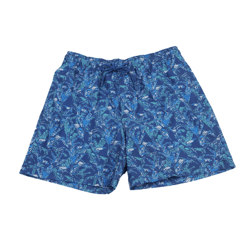 Men's Southern Tide Banana Leaf Swim Trunk Seven Seas Blue Front