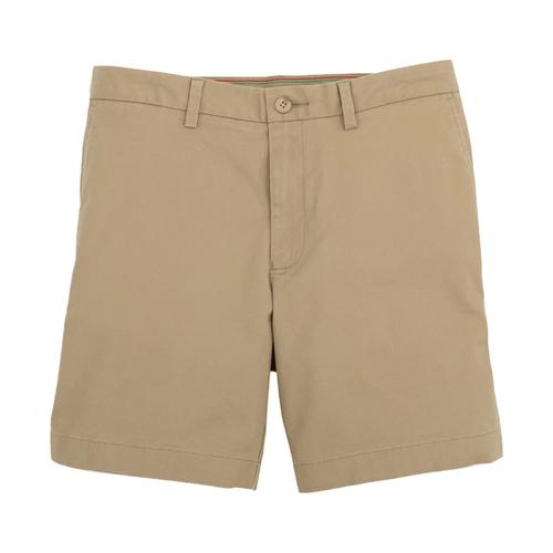 "Men's Southern Tide 7"" Channel Market Shorts Sandstone Khaki Front"