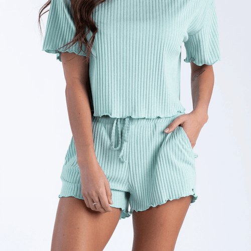 Women's Southern Shirt Ribbed Sincerely Soft Lounge Shorts 406-Cool Mint