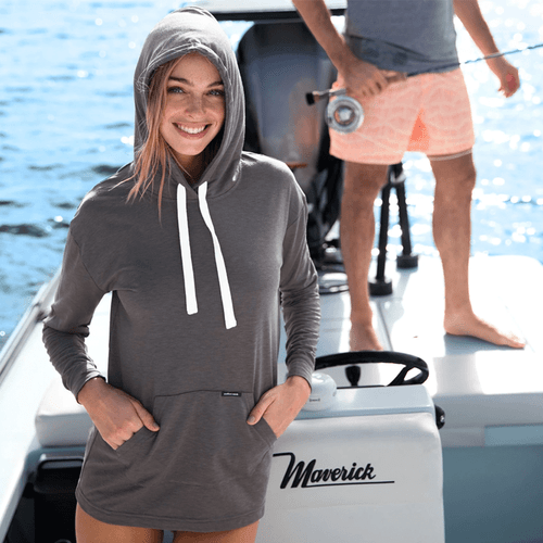 Women's Southern Marsh Madison Hoodie Pullover MGY-Midnight Gray