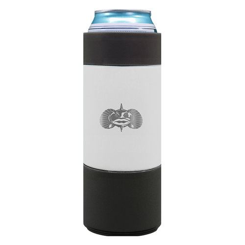 Toadfish Non-Tipping 12 oz Slim Can Cooler White
