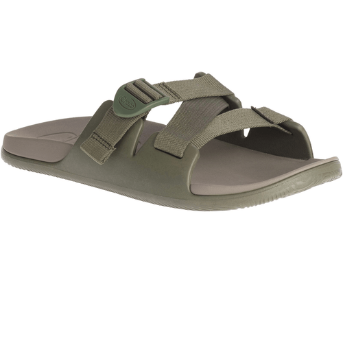 Men's Chaco Chillos Slide in Fossil Angled Front