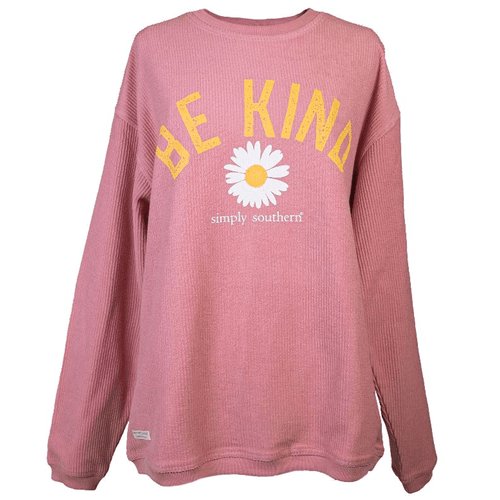Women's Simply Southern Be Kind Long Sleeve Tee Crepe