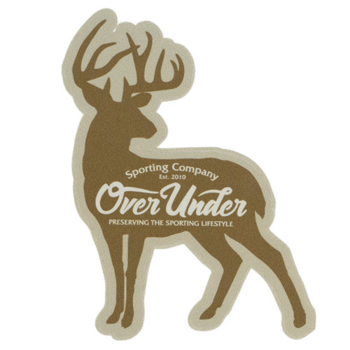 Over Under Whitetail Silhouette Sticker
