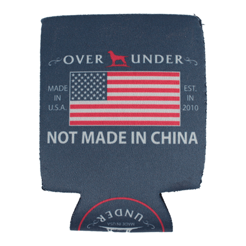 Over Under Not Made in China Koozie