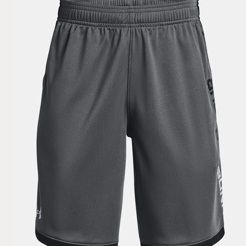 Boy's Under Armour Stunt 3.0 Shorts Grey Front