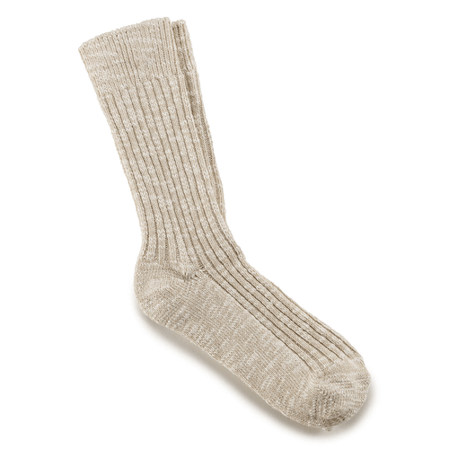 Women's Birkenstock Cotton Slub Socks Beige White
