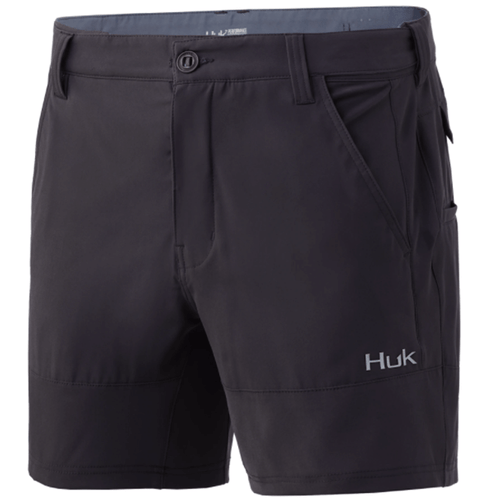 """Men's Huk 6"""" Low Country Short 010Iron Front"""