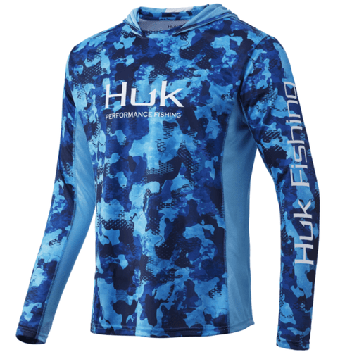 Men's Huk Icon X Refraction Camo Hoodie 471SanSal Front