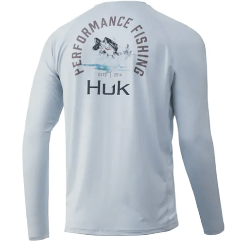 Men's Huk Long Sleeve Bass Pursuit Performance Shirt 451-Plein Air Back