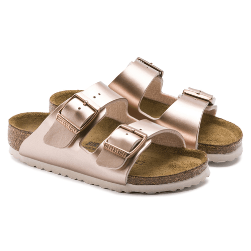 Girls' Birkenstock Arizona Sandal Metallic Copper