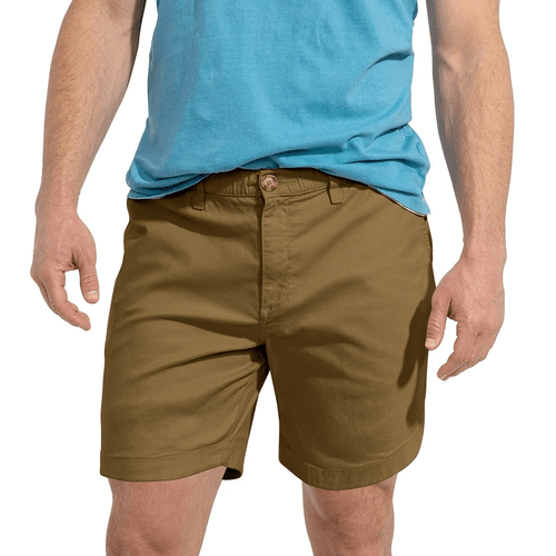 """Men's Chubbies 5.5"""" The Top Drawers Shorts Dark Beige Front"""