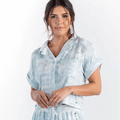 Women's Southern Shirt Co. Wildest Dreams Boxy Top Crystal Blue