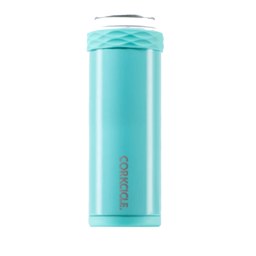 Corkcicle 12 oz. Slim Arctican - Gloss Turquoise Front