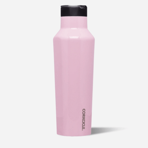 Corkcicle 20 oz. Sport Canteen - Gloss Rose Quartz Front