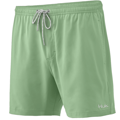 "Men's Huk 5.5"" Capers Volley Swim Shorts 336KeyLime Front"
