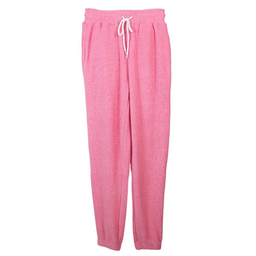 Women's Simply Southern Terry Jogger Pink Front