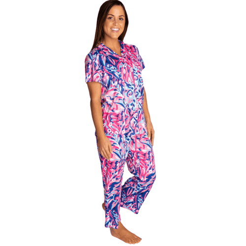 Women's Simply Southern Button Up Pajama Set RNFST-Rain Forest Lifestyle