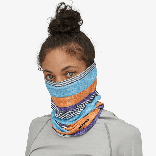 Adult Patagonia Capilene® Cool Daily Neck Gaiter FZPR-Fitz Stripe P6: Purple Face Covering