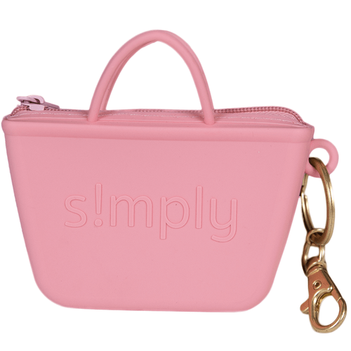 Simply Southern Simply Keychain - Tote Coral