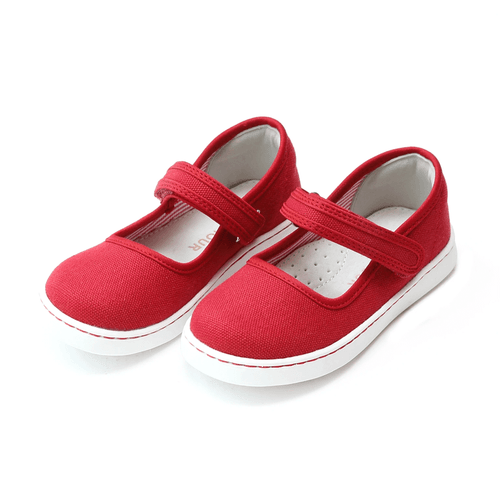 Girls' L'Amour Jenna Canvas Mary Jane Red Front