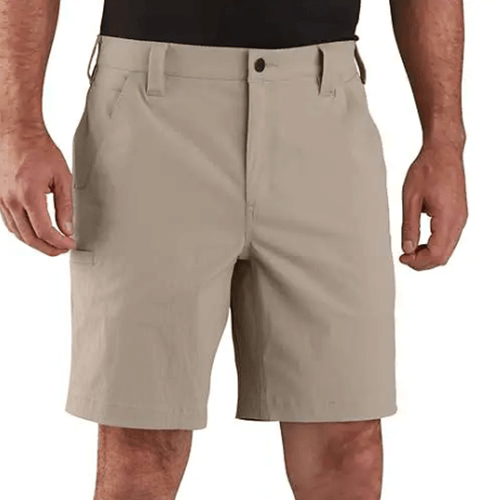 Men's Carhartt Force® Relaxed Fit Nylon Ripstop Work Short Tan Front