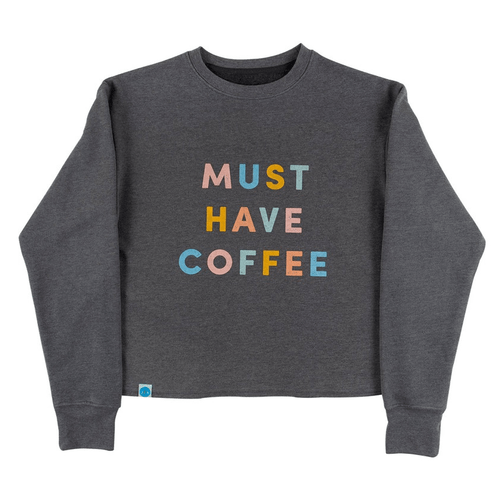Women's 30A Must Have Coffee Slouch Sweatshirt - Gray Front