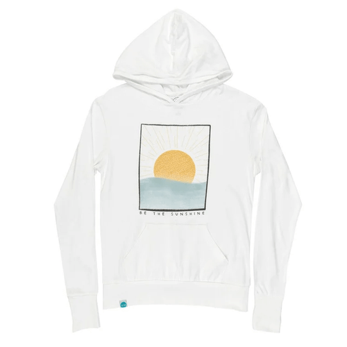 Women's 30A Be The Sunshine Pullover Hoodie - White Front