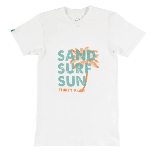 Women's 30A Short Sleeve Sand Surf Tee - White Front