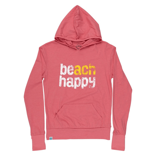 Womken's 30A Beach Happy® Pullover Hoodie - Melon Front