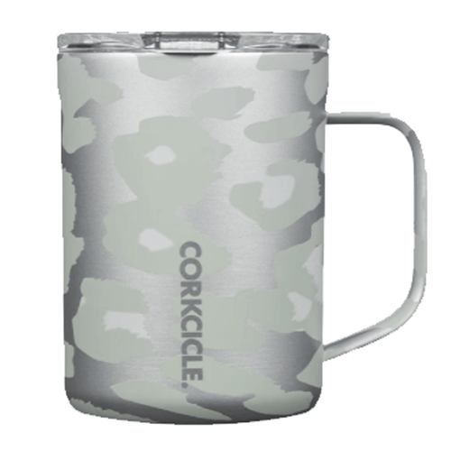 Corkcicle 16 oz. Coffee Mug - Snow Leopard