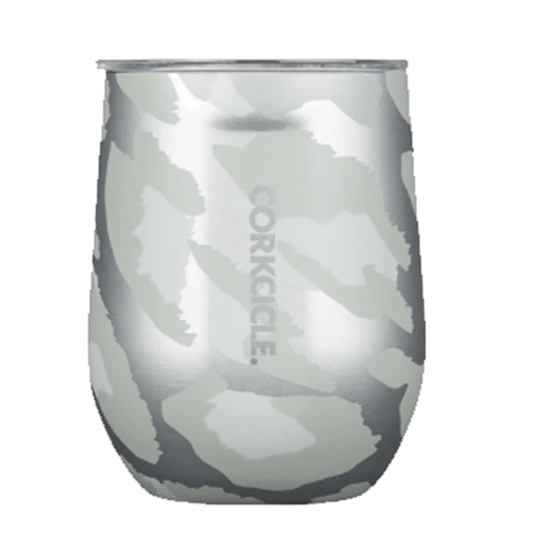 Corkcicle 12 oz. Exotic Stemless - Snow Leopard