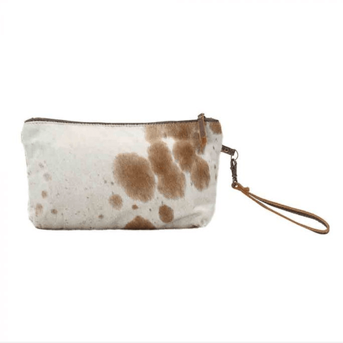 Myra Bag™ Light Brown Shaded Hairon Wristlet Side 1