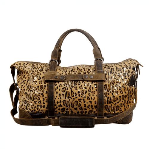 Myra Bag™ Vibrant Duffle Bag in Leopard Print Front