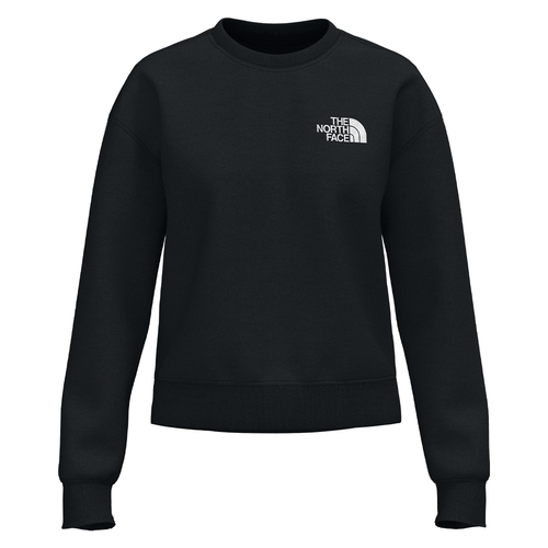 Women's The North Face Parks Slightly Cropped Crew JK3 Black Front