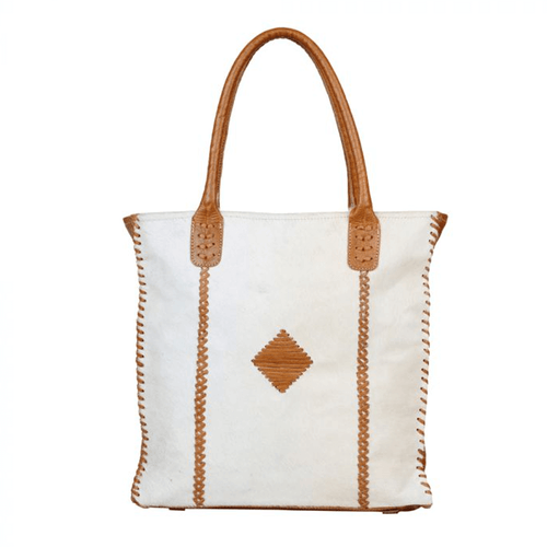 Myra Bag™ Purity Leather and Hairon Shoulder Bag Front