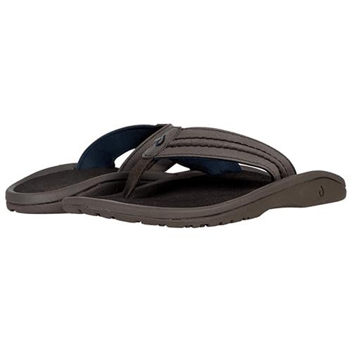 Men's Olukai Hokua Beach Sandals 6363-Dark Wood Front