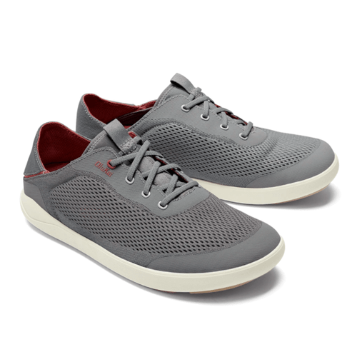 Men's Olukai Moku Pae No Tie Boat Shoes Poi/Red Ochre Front