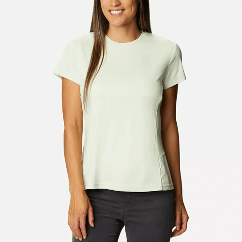 Women's Columbia Short Sleeve Zero Ice Cirro-Cool™ Shirt 313-Light Lime Front