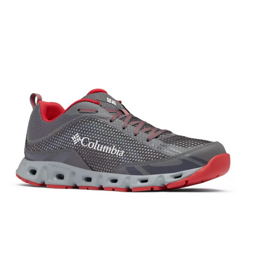 Men's Columbia Drainmaker™ IV Water Shoe -City Grey, Mountain Red Side