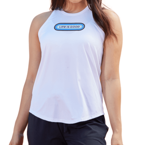 Women's Life Is Good Pill Active Tank Front