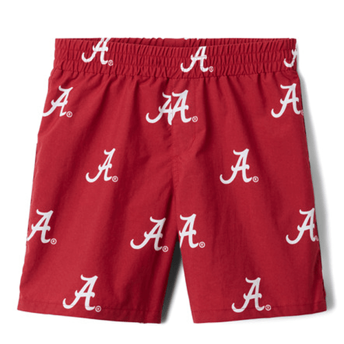 Youth Columbia Collegiate Backcast™ Printed Short 678ALA-Red Velvet Front